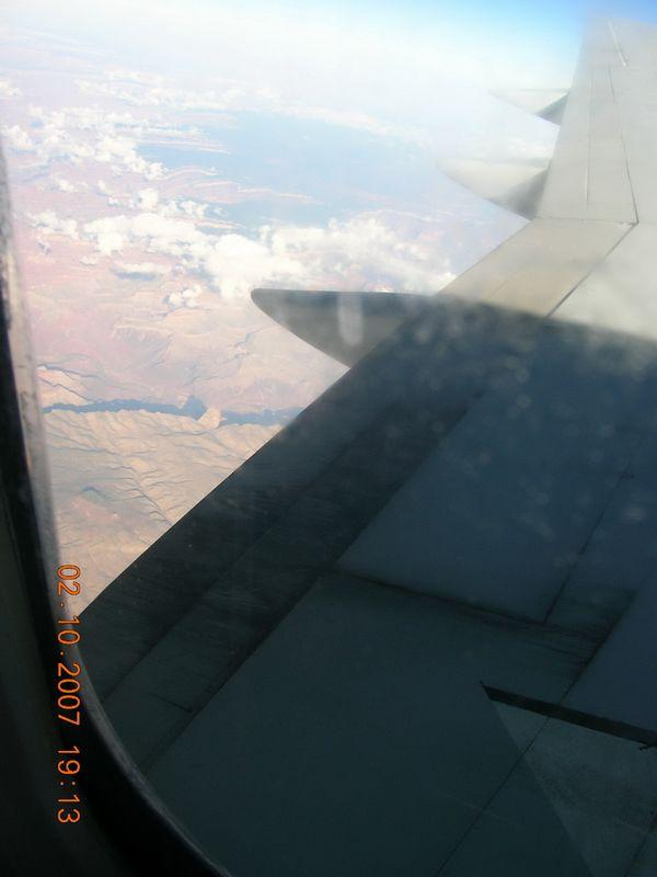 Los Angeles üzerinden ucaktan grand kanyon görüntüsü [Didem Erginsoy]